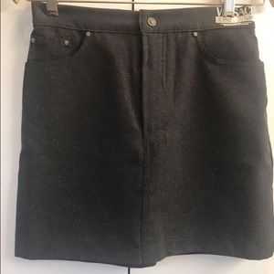 Versace - Authentic Grey & Silver Skirt